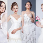 Beauty collage. Beautiful and fashion bride. studio shoot